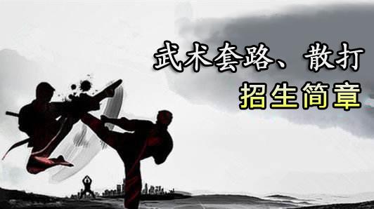 体育单招_武术套路、散打暑假集训营开课啦!