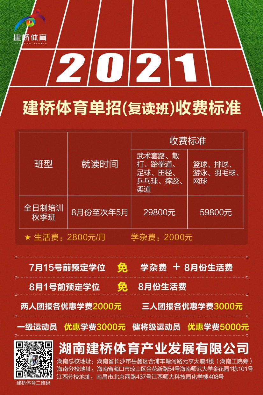 2021届体育单招复读班招生简章